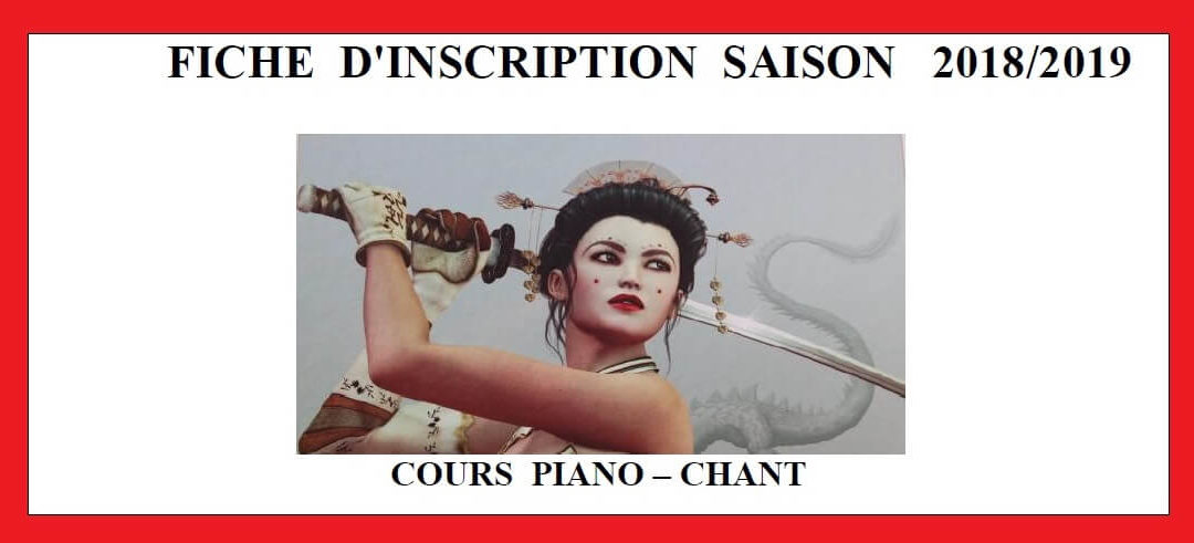 Inscription Cours 2018-2019