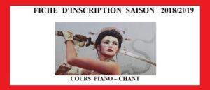 Fiche Inscription Cours Piano chantBretagne